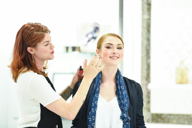 Tiffany Lowry shows how to use versatile beauty products